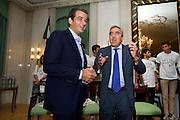 Rome sep 24th 2015, meeting on right wing rebuilding. In the picture Raffaele Fitto, Maurizio Gasparri
