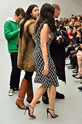 © Licensed to London News Pictures. 23/02/2016. DAISY LOWE attends the ASHLEY WILLIAMS show at the London Fashion Week Autumn/Winter 2016 show. Models, buyers, celebrities and the stylish descend upon London Fashion Week for the Autumn/Winters 2016 clothes collection shows. London, UK. Photo credit: Ray Tang/LNP