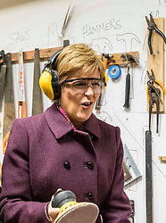 During a visit to a Climate Challenge community project in Edinburgh, the SNP leader, Nicola Sturgeon unveils a Green Energy Deal to support transformational investment into the energy schemes of the future. <br /> <br /> Pictured: Nicola Sturgeon with SNP candidate for Edinburgh West, Sarah Masson