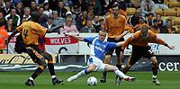 Photo: Paul Thomas.<br />Wolverhampton Wanderers v Birmingham City. Coca Cola Championship. 22/04/2007.<br /><br />Gary McSheffrey of Birmingham is fouled by Michael McIndoe (R).