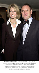 MISS NICOLA FORMBY and MR A A GILL at the Moet & Chandon London Restaurant Awards presented by Carlton TV at The Grosvenor House Hotel, Park Lane, London on 2nd April 2001.