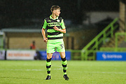Forest Green Rovers Jordan Stevens(35) makes his first team debut during the EFL Sky Bet League 2 match between Forest Green Rovers and Lincoln City at the New Lawn, Forest Green, United Kingdom on 12 September 2017. Photo by Shane Healey.