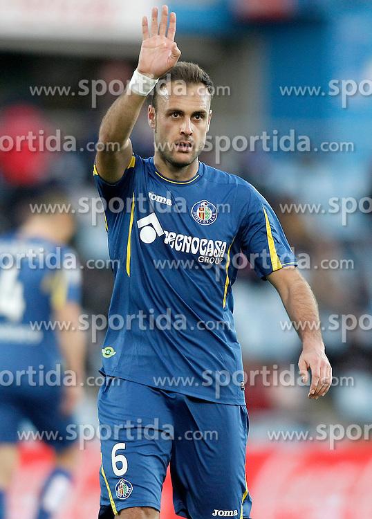 27.02.2016, Estadio Balaidos, Vigo, ESP, Primera Division, Getafe CF vs RC Celta, 26. Runde, im Bild Getafe's Juan Cala // during the Spanish Primera Division 26th round match between Getafe CF and RC Celta at the Estadio Balaidos in Vigo, Spain on 2016/02/27. EXPA Pictures &copy; 2016, PhotoCredit: EXPA/ Alterphotos/ Acero<br /> <br /> *****ATTENTION - OUT of ESP, SUI*****