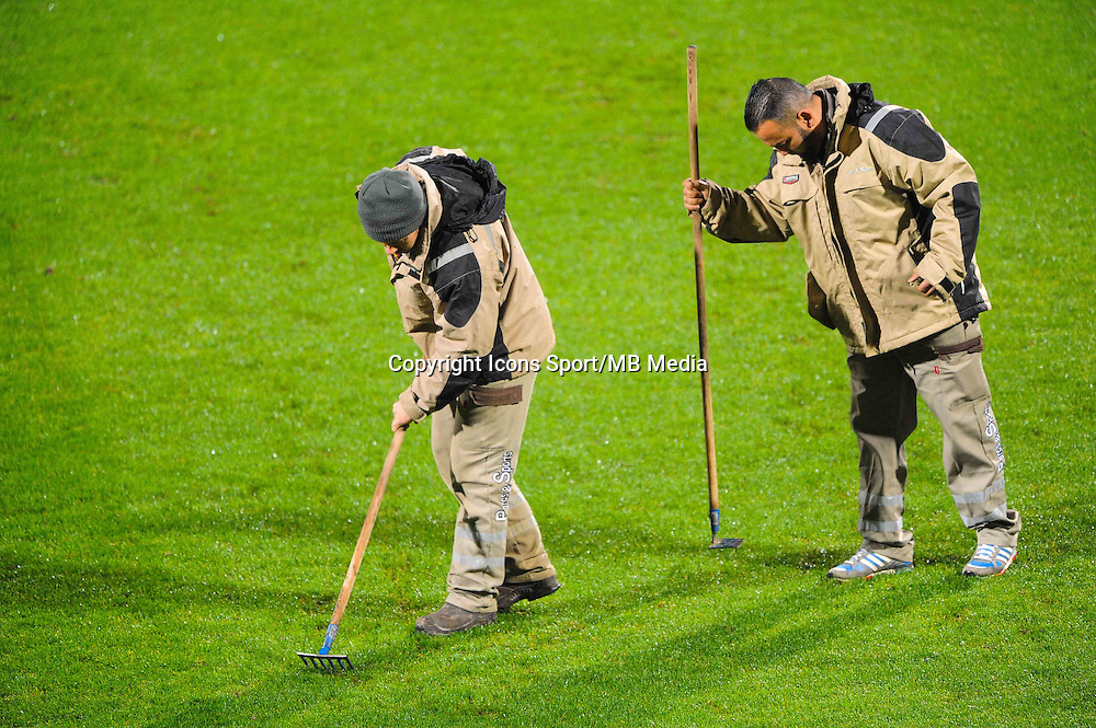 Illustration Jardiniers  - 04.12.2014 - Lyon / Reims - 16eme journee de Ligue 1  <br /> Photo : Jean Paul Thomas / Icon Sport
