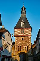 France, Yonne (89), Saint-Fargeau, Le Beffroi // France, Yonne, Saint Fargeau village, the belfry