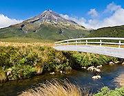 "Mount Egmont or Taranaki (2518 meters / 8261 feet) in Mount Egmont National Park, New Zealand, North Island. Featured as a stand-in for Mount Fuji in the Tom Cruise motion picture, ""The Last Samurai"". Published in ""Light Travel: Photography on the Go"" by Tom Dempsey 2009, 2010."