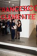 NOOR FARES, Francesco Clemente Private view,  Emblems of Transformation. Blain Southern. London. 28 April 2015
