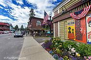 Downtown Bigfork, Montana, USA
