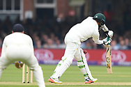 Azhar Ali of Pakistan is trapped LBW by James Anderson on DAy Two of the NatWest Test Match match at Lord's, London<br /> Picture by Simon Dael/Focus Images Ltd 07866 555979<br /> 25/05/2018