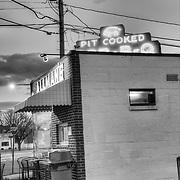 Allman's pit bar-b-que in Fredericksburg, Virginia.