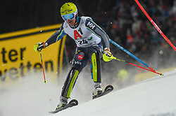 "29.01.2019, Planai, Schladming, AUT, FIS Weltcup Ski Alpin, Slalom, Herren, 1. Lauf, im Bild Mattias Hargin (SWE) // Mattias Hargin of Sweden in action during his 1st run of men's Slalom ""the Nightrace"" of FIS ski alpine world cup at the Planai in Schladming, Austria on 2019/01/29. EXPA Pictures © 2019, PhotoCredit: EXPA/ Erich Spiess"