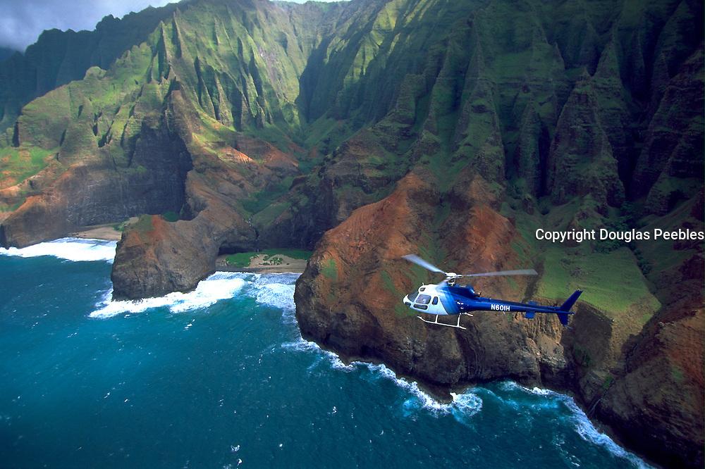 Helicopter, Napali Coast, Kauai, Hawaii, USA<br />