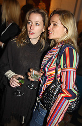 Left to right,actress GILLIAN ANDERSON and jewellery designer TARA AGACE at an exhibition of recent work by artist Lance Tilbury held at the Old Imperial Laundry, Warriner Gardens, Battersea, London on 7th December 2004.<br /><br />NON EXCLUSIVE - WORLD RIGHTS