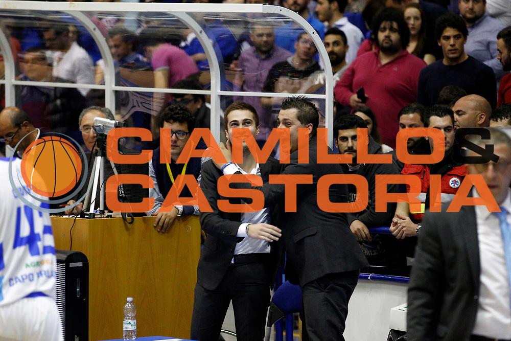 DESCRIZIONE : Capo dOrlando Lega A 2014-15 Orlandina Basket Olimpia Emporio Armani EA7 Milano<br /> GIOCATORE : Giuseppe Sindoni Saya<br /> CATEGORIA : Vip Direttore Sportivo e General Manager<br /> SQUADRA : Orlandina Basket EA7 Emporio Armani Olimpia Milano<br /> EVENTO : Campionato Lega A 2014-2015 <br /> GARA : Orlandina Basket EA7 Emporio Armani Olimpia Milano<br /> DATA : 19/04/2015<br /> SPORT : Pallacanestro <br /> AUTORE : Agenzia Ciamillo-Castoria/G.Pappalardo<br /> Galleria : Lega Basket A 2014-2015<br /> Fotonotizia : Capo dOrlando Lega A 2014-15 Orlandina Basket EA7 Emporio Armani Olimpia Milano