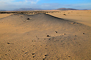 Sand dunes at Las Dunas natural park, Corralejo, Fuerteventura, Canary Islands, Spain