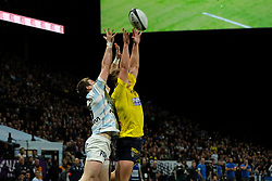 January 8, 2018 - Nanterre, Hauts de Seine, France - Clermont Fly Half DORIAN LAVERNHE in action during the French rugby championship Top 14 match between Racing Metro 92 and Clermont at U Arena Stadium in Nanterre - France.Racing won 58-6 (Credit Image: © Pierre Stevenin via ZUMA Wire)
