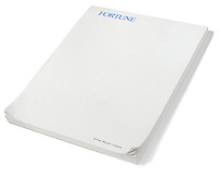 white pad of paper labeled by fortune