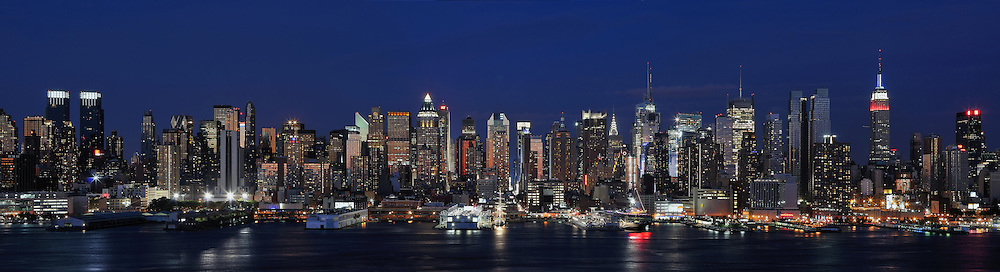 Hudson River on twilight