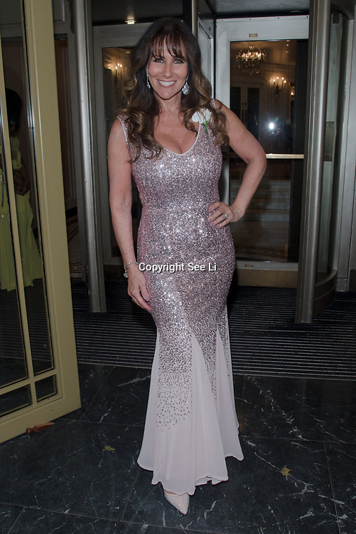 Linda Lusardi attend the Rainbows Celebrity Charity Ball at Dorchester Hotel on June 1, 2018 in London, England.