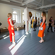 """18.05.2018.          <br /> More than 500 people attended the flagship event of the inaugural Unwrap LSAD Fashion Festival in Limerick.<br /> <br /> Valerie O'Connor and Heather O'Connor admire the deign of Graduate Kelly O'Rourke, titled Turadh.<br /> <br /> The Limerick School of Art & Design, LIT, Fashion Design Graduate Exhibition and launch of the """"The Fashion Film"""" at Limerick City Gallery of Art, in partnership with EVA International, attracted hundreds of people from the world of fashion. <br /> <br /> A total of 27 fashion graduates presented their designs alongside the specially commissioned film by fashion stylist and creative director Kieran Kilgallon and videographer Albert Hooi. Picture: Alan Place"""