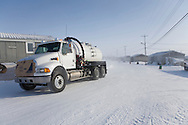 watertruck in Gjohaven, an inuit settlement in the far north of Canada