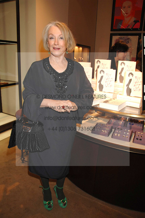 LUCIA VAN DER POST at a party to celebrate the publication of her book 'Things I Wish My Mother Had Told Me' held at Asprey, New Bond Street, London on 8th November 2007.<br />