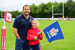 Todays match sponsor with his daughter - Mandatory by-line: Craig Thomas/JMP - 17/09/2017 - Rugby - Cleve Rugby Ground  - Bristol, England - Bristol Ladies  v Richmond Ladies - Women's Premier 15s