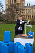 William Bain MP. Marking World Water Day, over 40 MP's walked for water at Westminster, London at an event organised by WaterAid and Tearfund. Globally hundreds of thousands of people took part in the campaign to raise awareness of the world water crisis.