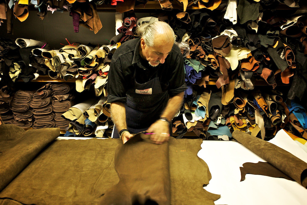 Shoes production is held in Italy.