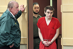Parkland school shooter Nikolas Cruz enters the courtroom for a pre-trial hearing at the Broward County Courthouse in Fort Lauderdale, FL, USA on Monday, January 27, 2020, on four criminal counts stemming from his alleged attack on a Broward jail guard in November 2018. Cruz is accused of punching Sgt. Ray Beltran, wrestling him to the ground and taking his stun gun. Photo by Amy Beth Bennett/Sun Sentinel/TNS/ABACAPRESS.COM