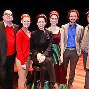NLD/Breda/20110228 - Premiere Masterclass, Pia Douwes en cast Babette Holtmann, Maartje Rammelo, Michiel van Lieshout, Kees van Zantwijk, Rudy Hellewegen