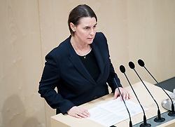 "29.01.2019, Hofburg, Wien, AUT, Parlament, Nationalratssitzung, Sondersitzung des Nationalrates mit einem Dringlichen Antrag der SPÖ zum Thema ""Mangel an Ärztinnen und Ärzten in Österreich"", im Bild Nationalratsabgeordnete FPÖ Petra Wagner // Member of the National Council Petra Wagner (FPOe) during meeting of the National Council of austria due to the topic ""Lack of Medical Doctors in Austria"" at Hofburg palace in Vienna, Austria on 2019/01/29, EXPA Pictures © 2019, PhotoCredit: EXPA/ Michael Gruber"