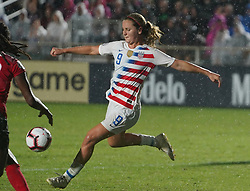 October 11, 2018 - Cary, North Carolina, United States - CARY, NC - OCTOBER 10: .Lindsey Horan of USA.During CONCACAF Women's Championship Group A match between Trinidad and Tobago against USA at Sahlen's Stadium, Cary, North Carolina. on October 10, 2018  (Credit Image: © Action Foto Sport/NurPhoto via ZUMA Press)