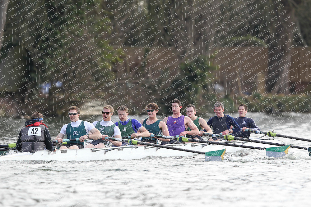 2012.02.25 Reading University Head 2012. The River Thames. Division 1. Maidenhead Rowing Club A IM3 8+