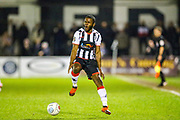 Maidenhead United midfielder James Akintunde appeals a decision during the Vanarama National League match between Maidenhead United and Havant & Waterlooville FC at York Road, Maidenhead, United Kingdom on 26 March 2019.