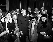 American comedian Jack Benny entertains senior citizens at the Gaiety theatre. Benny had a hugely successful career on radio and television. He was also a talented violinist but his TV character pretended to be hopeless at playing the instrument.<br />