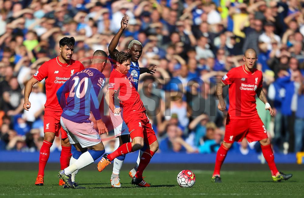 Joe Allen of Liverpool in action - Mandatory byline: Matt McNulty/JMP - 07966 386802 - 04/10/2015 - FOOTBALL - Goodison Park - Liverpool, England - Everton  v Liverpool - Barclays Premier League