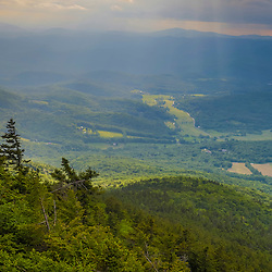 The view from a ledge on the west slope of Mount Ascutney in West Windsor, Vermont.