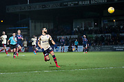 2nd December 2017, Global Energy Stadium, Dingwall, Scotland; Scottish Premiership football, Ross County versus Dundee; Dundee's Faissal El Bakhtaoui scores his side's second goal for 2-0