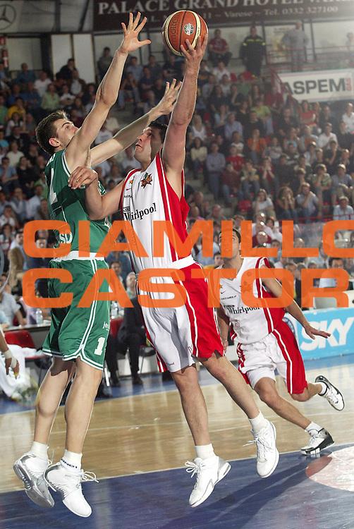 DESCRIZIONE : Varese Lega A1 2005-06 Whirlpool Varese Benetton Treviso <br />GIOCATORE : Fernandez<br />SQUADRA : Whirlpool Varese<br />EVENTO : Campionato Lega A1 2005-2006<br />GARA : Whirlpool Varese Benetton Treviso<br />DATA : 23/04/2006<br />CATEGORIA : Tiro<br />SPORT : Pallacanestro<br />AUTORE : Agenzia Ciamillo-Castoria/S.Ceretti<br />Galleria : Lega Basket A1 2005-2006<br />Fotonotizia : Varese Campionato Italiano Lega A1 2005-2006 Whirlpool Varese Benetton Treviso<br />Predefinita :