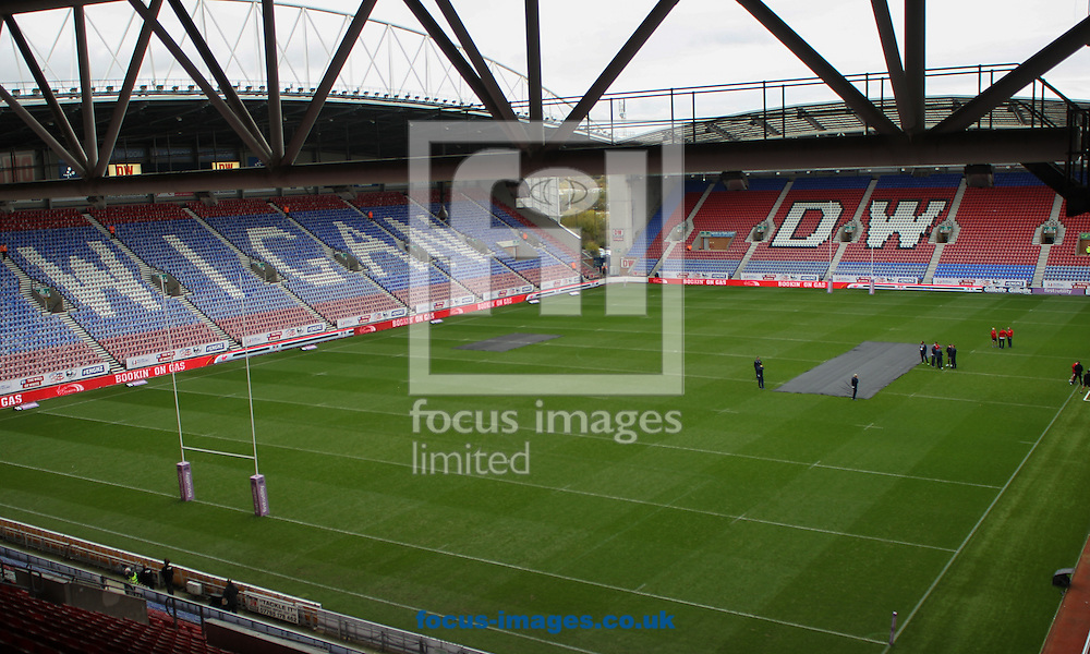 General Stadium view of the DW Stadium during the Autumn International Series match at the DW Stadium, Wigan<br /> Picture by Stephen Gaunt/Focus Images Ltd +447904 833202<br /> 14/11/2015