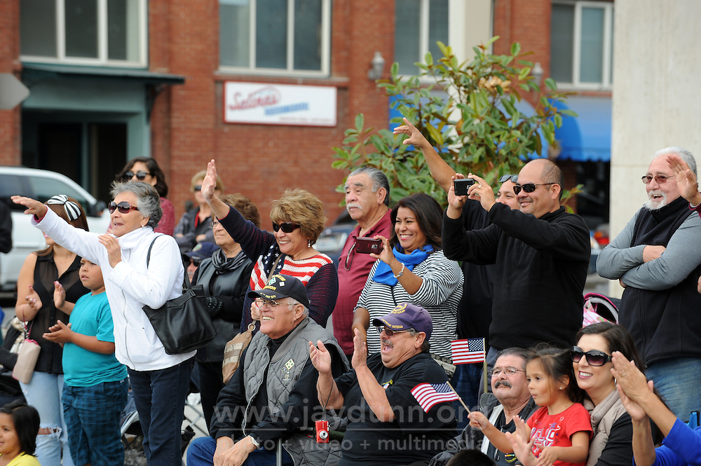 Signs of support and appreciation were plentiful during Monday's 3rd Annual Monterey County Veterans Parade along South Main Street in Salinas, as the whole town turned out to salute military friends and family.