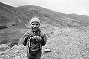 Young Justino in the mountains, Peru, 2003