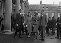 American President Richard Nixon at Dublin Castle for a Luncheon held in his Honour, with An Taioseach Jack Lynch, circa October 1970 (Part of the Independent Newspapers Ireland/NLI Collection).