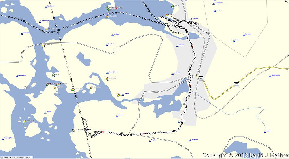 GPS Track: Bergen Airport to Thon Bristol Hotel in Bergen (11 miles)
