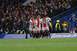 November 5, 2019: AMSTERDAM, NETHERLANDS - OCTOBER 22, 2019: Ajax squad pictured during the 2019/20 UEFA Champions League Group H game between Chelsea FC (England) and AFC Ajax (Netherlands) at Stamford Bridge. (Credit Image: © Federico Guerra Maranesi/ZUMA Wire)