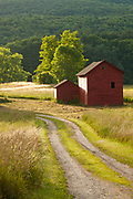 Red barns near Great Barrington, MA.
