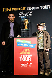 Nenad Protega and his son at VIP reception of FIFA World Cup Trophy Tour by Coca-Cola, on March 29, 2010, in BTC City, Ljubljana, Slovenia.  (Photo by Vid Ponikvar / Sportida)