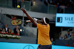 May 9, 2019 - Madrid, Spain - Frances Tiafoe (USA) in his match against Rafa Nadal (SPA)during day six of the Mutua Madrid Open at La Caja Magica in Madrid on 9th May, 2019. (Credit Image: © Juan Carlos Lucas/NurPhoto via ZUMA Press)
