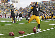 November 21, 2009: Iowa kicker Daniel Murray (1) before the Iowa Hawkeyes 12-0 win over the Minnesota Golden Gophers at Kinnick Stadium in Iowa City, Iowa on November 21, 2009.
